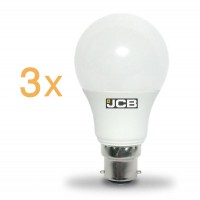 JCB 15w Super Bright B22 LED Bayonet Bulb 100w Replacement  (Day White 6500k) 3 PACK