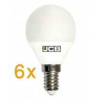 JCB 6w E14 LED Compact Bayonet Bulb (Warm White 3000k) * 6 PACK *