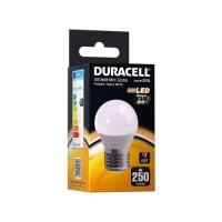 Duracell 4w E27 LED Edison Screw Golf Ball Bulb (Warm White 2700k) - 4 Pack
