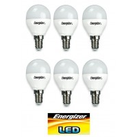 Energizer 6w E14 LED Dimmable Golf ball Bulb (Warm White 2700k) - 6 Pack