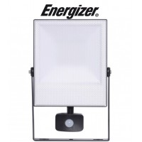 50w Energizer LED PIR Motion Sensor Flood Light (Cool White 6500k) with Manual Override