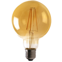 Energizer Vintage Industrial LED Filament Retro Bulb E27 G125 (Extra Warm White 2200k)