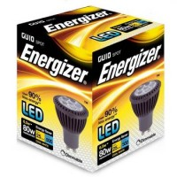 Energizer 6.5w (80w) GU10 LED Dimmable Spot Light 500LM (Warm White 3000k)