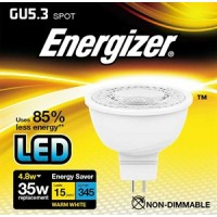 Energizer 4.8w (35w) MR16 LED Spot Light 345LM (Warm White 3000k) 12 Pack