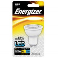 Energizer 5w GU10 LED Dimmable Spot Light 345LM (Warm White 3000k) 12 Pack