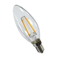 Energizer 4w E14 LED Filament Candle Bulb (Cozy Warm White 2700k) - 6 Pack