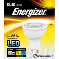 Energizer 5.8w (60w) GU10 LED Spot Light 500LM (Natural White 4000k) 6 Pack