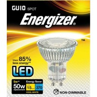 Energizer 5w (50w) GU10 LED Full Glass Spot Light 370LM (Cool White 4000k) 12 Pack