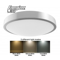 ENERGIZER LED Bathroom Light 16W Adjustable Light Modes Cool, Natural or Warm White