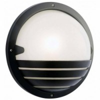 Round Black Large Bulkhead With LED Lamp