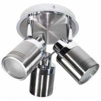 Chrome Bathroom 3 Head JCB LED Ceiling Light IP44 (Warm White 3000k)