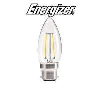 Energizer 4w B22 LED Filament Candle Bulb (Cozy Warm White 2700k)