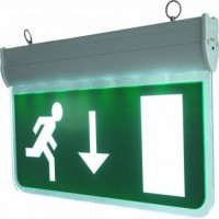 Emergency Exit 3w LED Sign - Packaging damaged