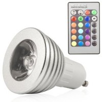 GU10 Colour Changing RGB Remote Spot Light - 4 PACK
