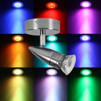 Power Master Single Spotlight Chrome with Colour changing light