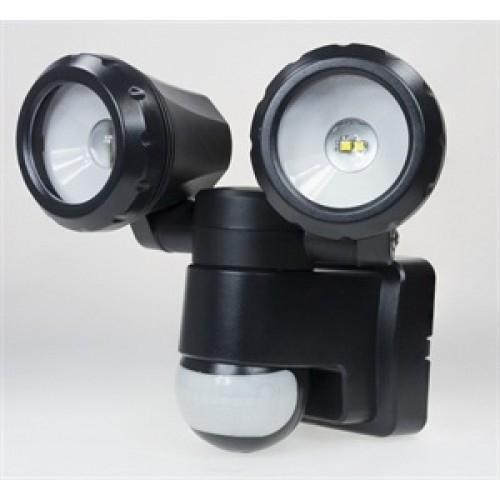 Outdoor Light Pir Override: Twin Spot LED Motion Sensor Security Light With Manual